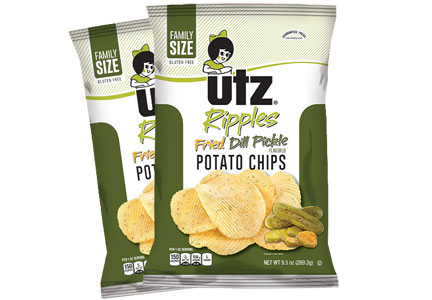 Utz fried pickle chips
