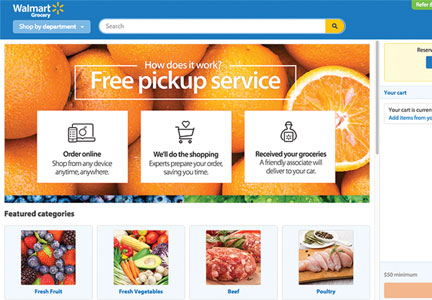 Wal-Mart pick up service website
