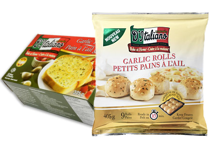 Weston Foods frozen garlic bread