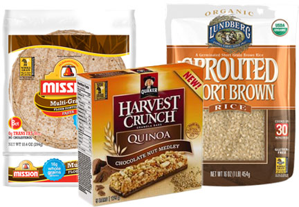 Products bearing the Whole Grains stamp