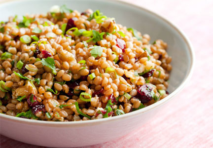 Wheatberry salad, healthy affordable food