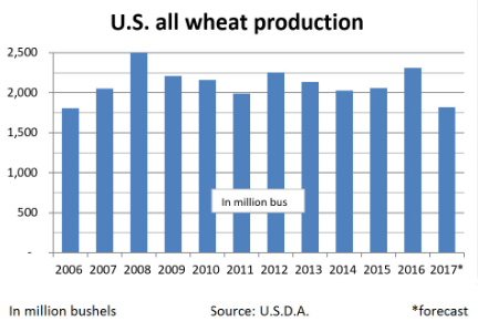Wheat production chart