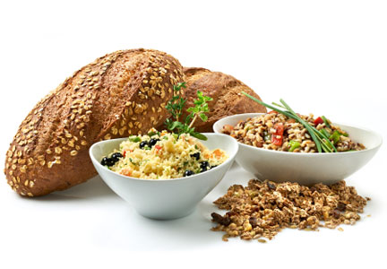 Whole grain breads and pastas