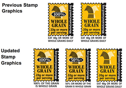 Whole grains stamps