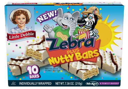 Little Debbie Zebra Plus Nutty Bars, McKee Foods